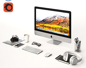 Workplace Silver IMac 3D model
