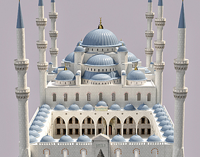 Sultan Ahmet Mosque 3D model minaret