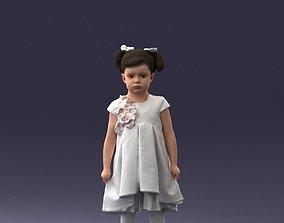 Little girl in sundress 0328 3D Print Ready
