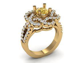 women 3D printable model 738 Diamond Ring