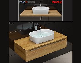 3D model sink Ravak Solo