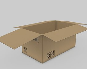 3D Cardboard Parcel Box Adjustable and Rigged