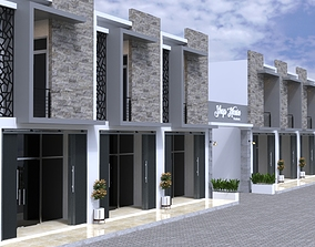 Shophouse Exterior Scene 3D model