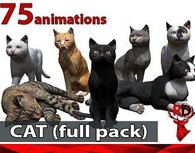 3D model Cat full pack