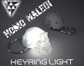 Homo Naledi Skull key-ring light 3D print model
