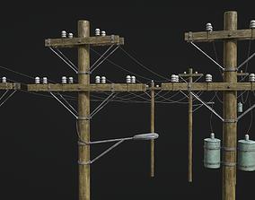3D asset High Voltage Lines
