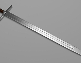 English LongSword 3D asset