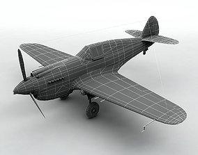 Curtiss P40-B Aircraft 3D model