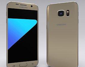 3D Samsung Galaxy S7 Gold