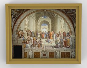 School of Athens painting by Raphael for 3D printing
