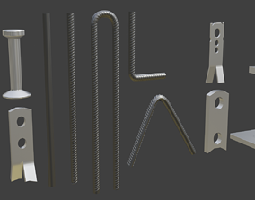 Concrete accessories Volume 1 3D model