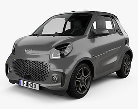 3D model Smart ForTwo EQ Pulse cabriolet 2020