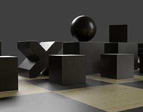 3D Bauhaus chess set bauhaus