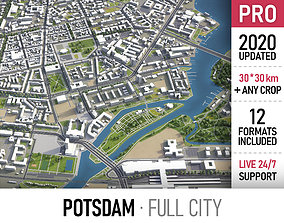 3D asset Potsdam - city and surroundings