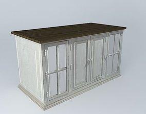 3D Beautiful wooden worktop