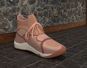 Puma Phenom Pink Shoe Trainers made in Blender 3D model 1