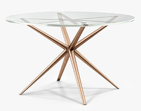 Holly Hunt Etoile Dining Table 3D asset