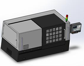 CNC double spindle lathe 3D