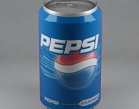 Pepsi can 01 3D model