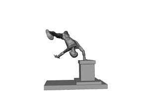 Spider-man Handstand off of base 3D print model