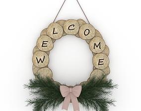 Log wreath 3D