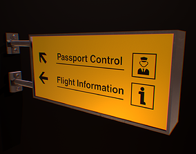 Airport Sign Board 001 3D asset realtime