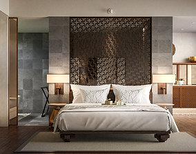 3D model Interior Scene - Hotel Villas - Sketchup Vray