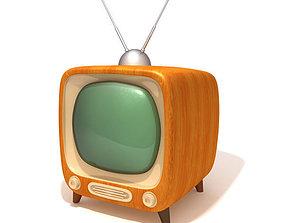 TV retro television 3D asset