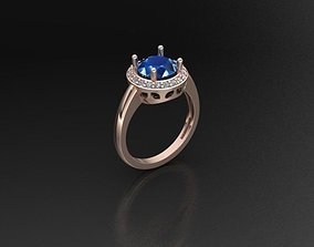 Cluster ring 3D printable model jewelry