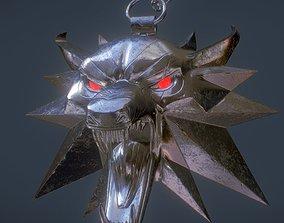 3D printable model The Witcher 3 medallion
