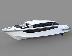 3D model Luxury Limousine boat