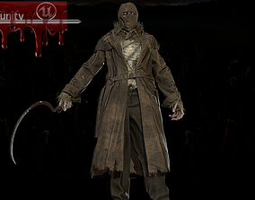 3D asset Scary scarecrow