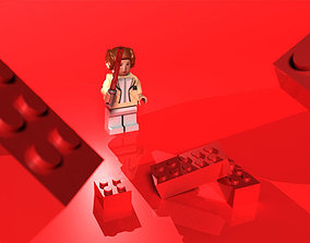 3D model game-ready Lego star wars