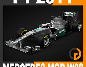 F1 2011 Mercedes MGP W02 GP Petronas 3D model