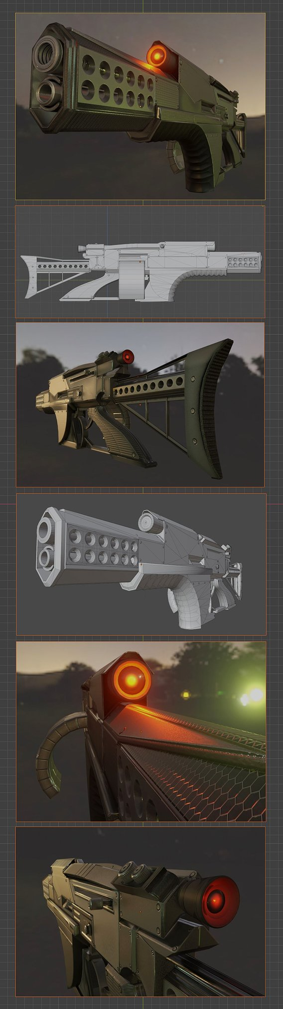 Futuristic Weapon Concept for a use in Blender-2.9