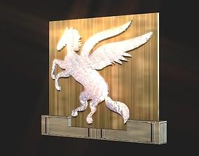 2d 3d Pegasus stand decoration low-poly