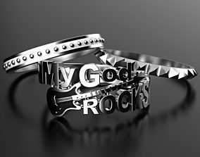 3D print model My God Rocks rings