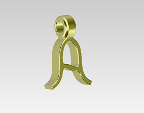 Stylish Letter A-Pendant -Amazing Gift 3D print model