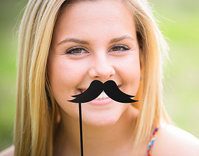 3D printable model fashion Mustache Mustache Stick