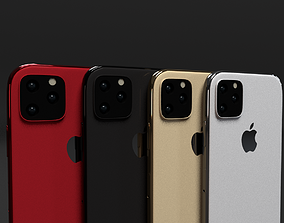 iPhone 11 iPhone 11 Max iPhone 11 R In All Colors 3D asset