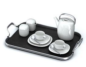 Tea Set White 3D