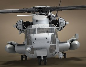 3D CH-53 Military Helicopter With Simple