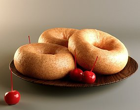 Doughnuts with Cherries 3D model