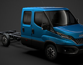 Iveco Daily Crew Cab L3 Chassis 2020 3D model