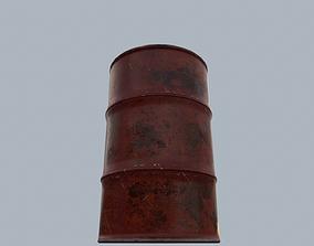 3D model Metal PBR Oil Barrel