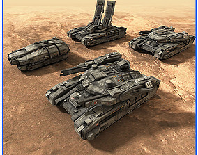 SciFi Army Ground Units 01 3D asset