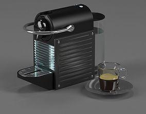 Coffee maker Nespresso Pixie Electric Titan 3D