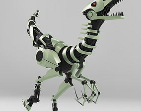 Tirex ROBOT toy - Rigged - Animation 3D model animated