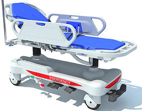 Ambulance Patient Transfer Stretcher Trolley 3D