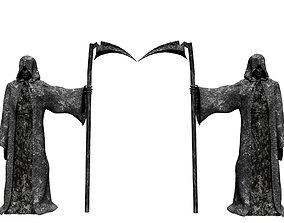 3D asset Grim Reaper Sculpture